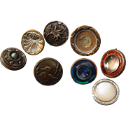 Nine Vintage Small Victorian Buttons