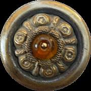 Vintage 1800's Brass Button