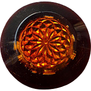 Beautiful 1930's Large Lucite Button