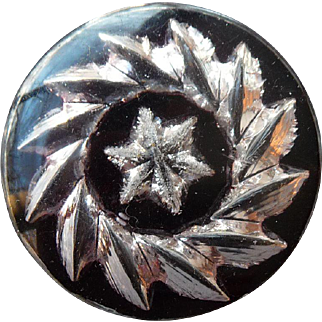 Extra Large Vintage 1930's Layered Lucite Button