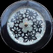 Deco Lucite Layered Button
