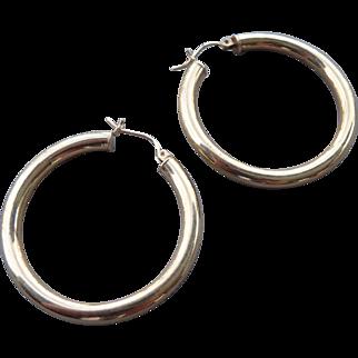 Vintage 14 K. Gold Hoop Earrings