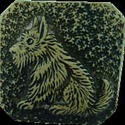 Vintage Scottie Dog Button