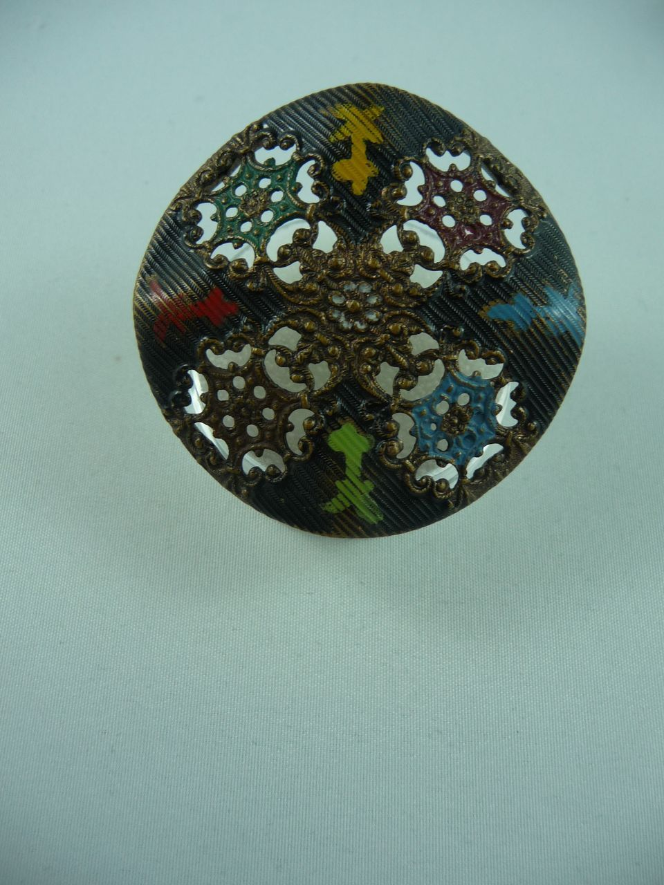 Beautiful Filigree Copper Button From Hiptobeold On Ruby Lane