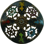 Beautiful Filigree Copper Button
