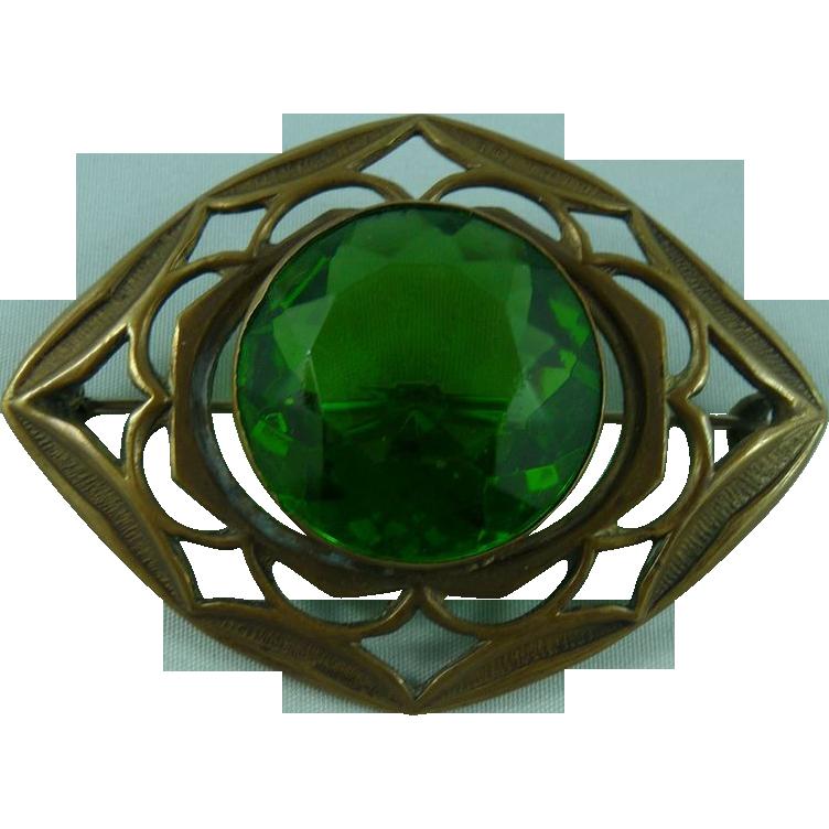 Green Deco Sash Pin
