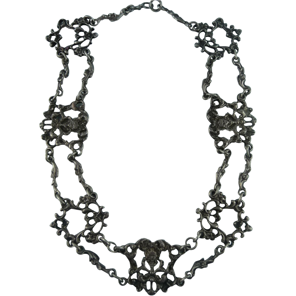 Vintage Italian 800 Silver Necklace
