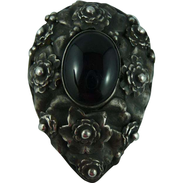 Intricate Signed Sterling  Hobe Pin
