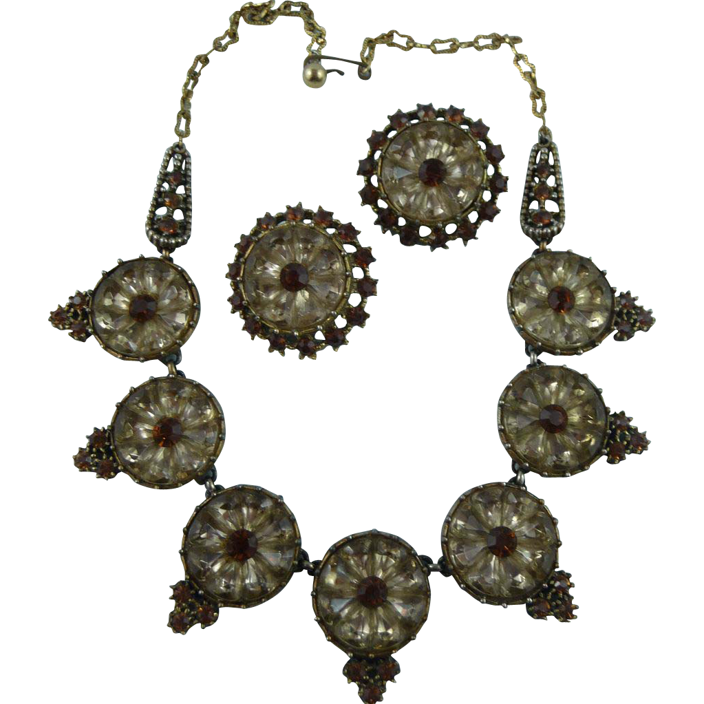 Incredible Crystal Necklace and Earring Set