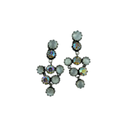 Lovely Juliana Simulated Drop Moonstone Earrings