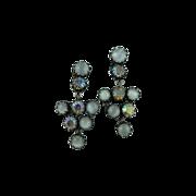 Lovely Juliana Simulated Drop Moonstone Earrings