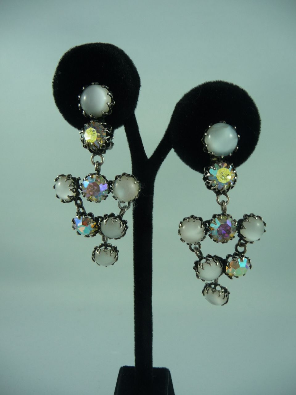 Lovely Juliana Simulated Drop Moonstone Earrings From