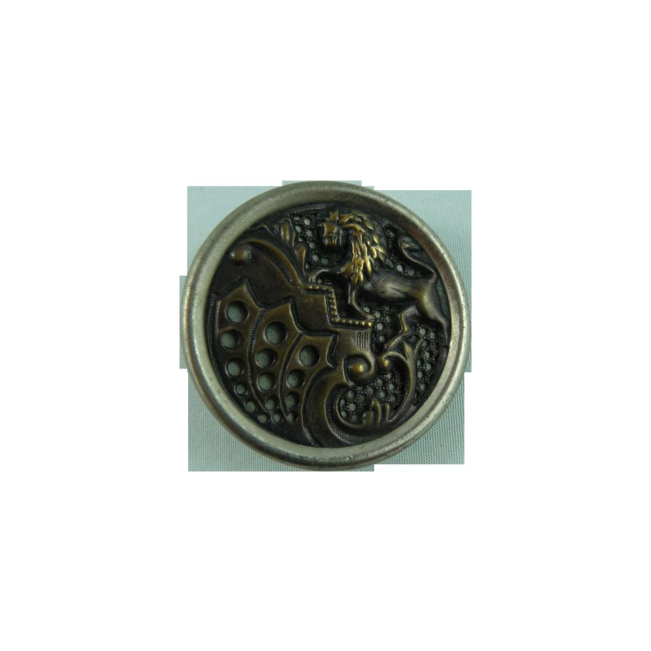 Vintage Lion Button