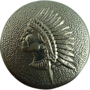 Vintage Native Chief Button