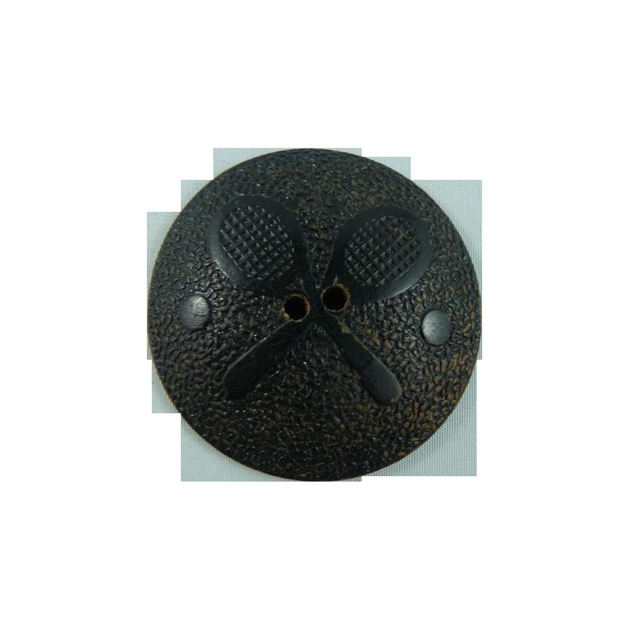 Vintage Large Wood Tennis Button