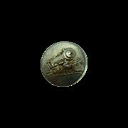 Vintage Metal Train Button