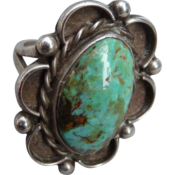 Vintage Southwest Sterling Turquoise Ring