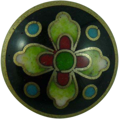 Beautiful Vintage Cloisonne Button