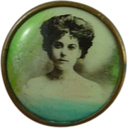 Early Vintage Lithograph Button