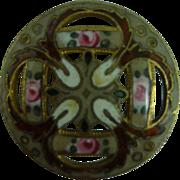 Beautiful French 1800's Enamel Button