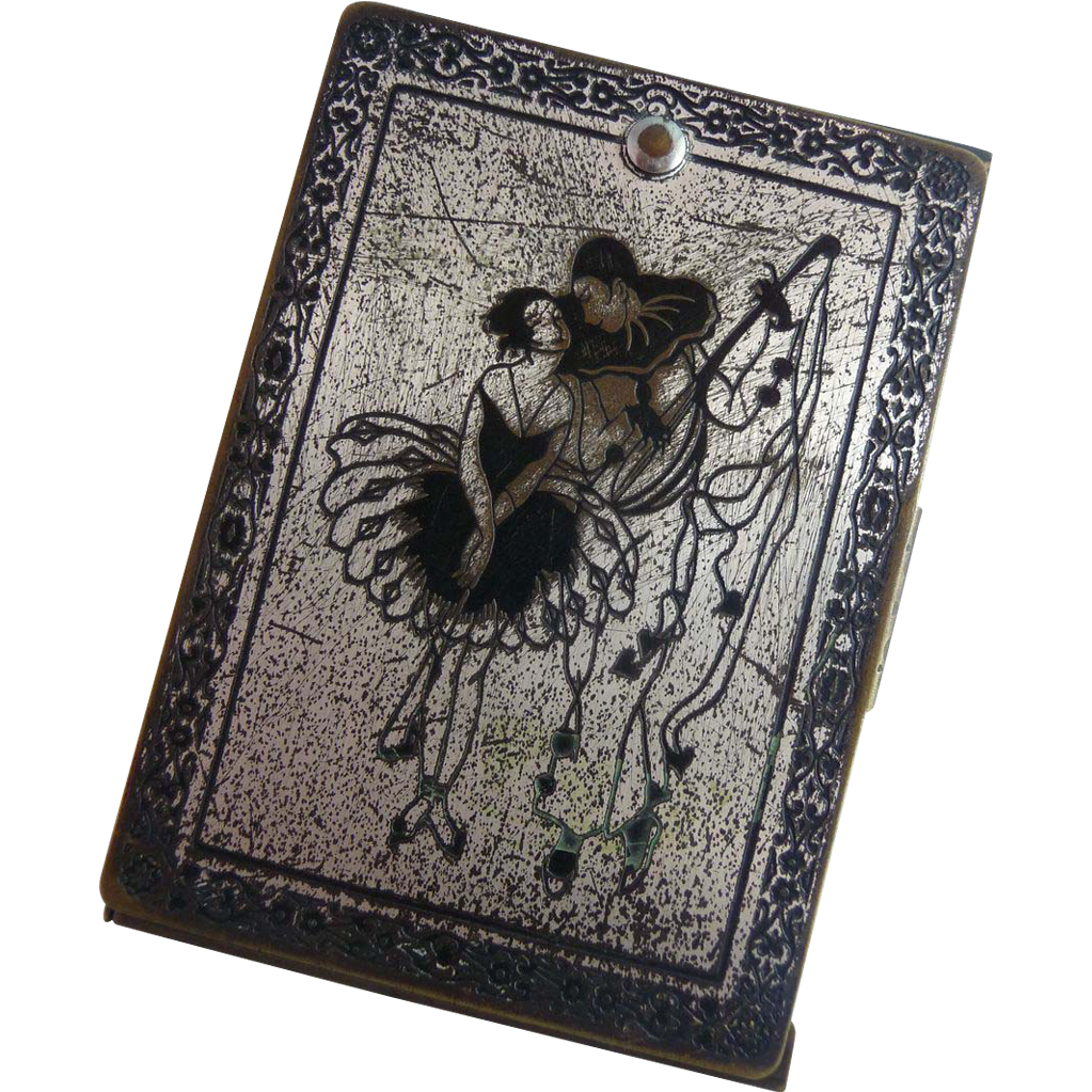 Old Vintage Metal Playing Card Holder