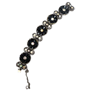Beautiful Vintage Black Crystal Bracelet