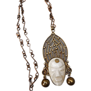 Dynamic Vintage Mexican Pendant/Necklace