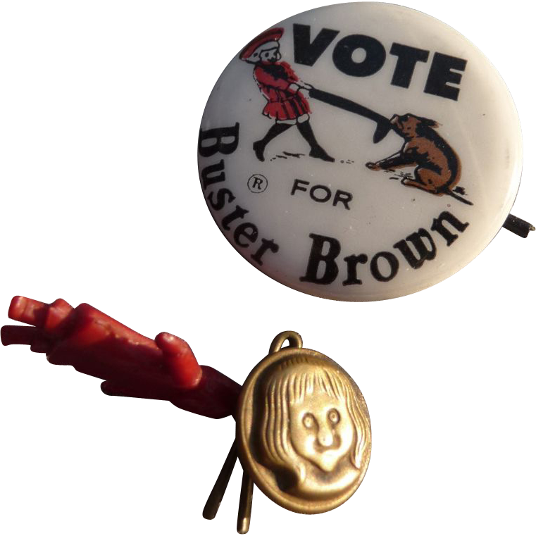 Very Special Rare Buster Brown Button Set