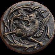 Vintage Brass Griffin Button