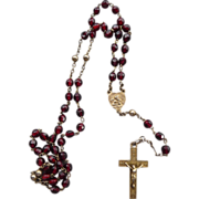 Vintage Silver and garnet Rosary