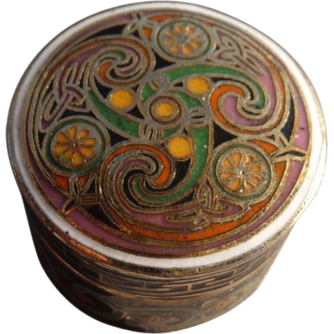 Wonderful Vintage Celtic Design Trinket Box