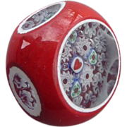 Exceptional Large John Gooderham Paperweight Button
