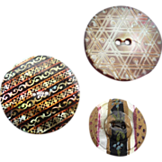 Three Early Vintage Pearl Buttons