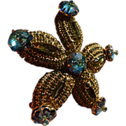 Beautiful Vintage Star Fish Pin and Earrings