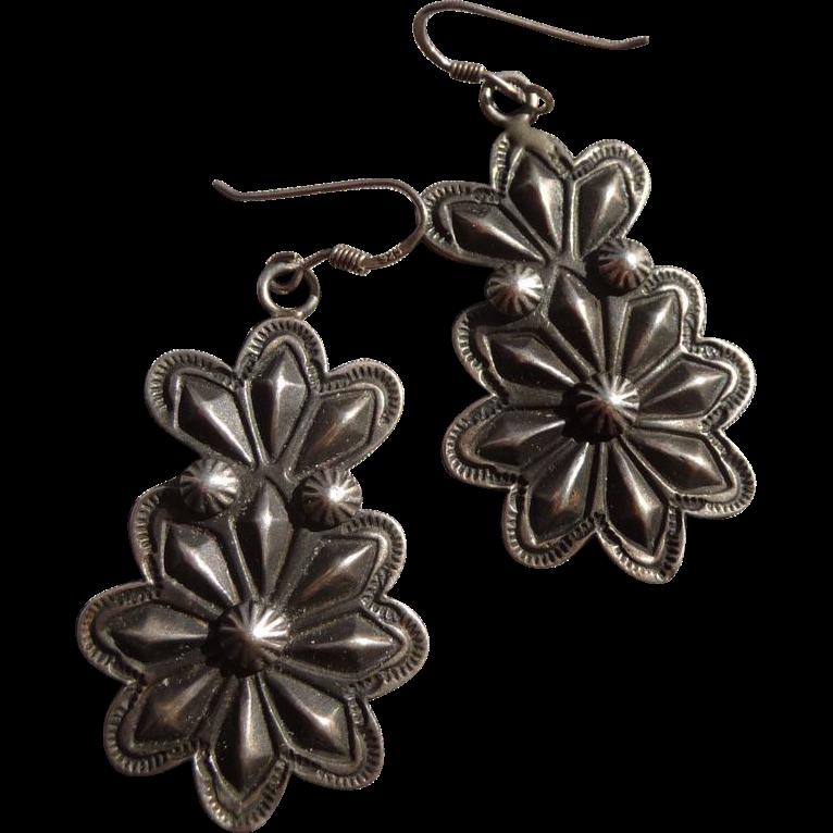 Beautiful Vintage Sterling Pierced Earrings