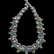 Beautiful Vintage Pastel Crystal Necklace