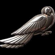 Vintage Silver Dove Bird Pin