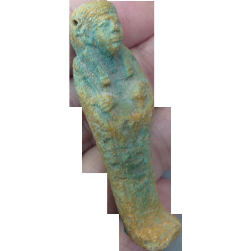Vintage King Tut Pottery Bead