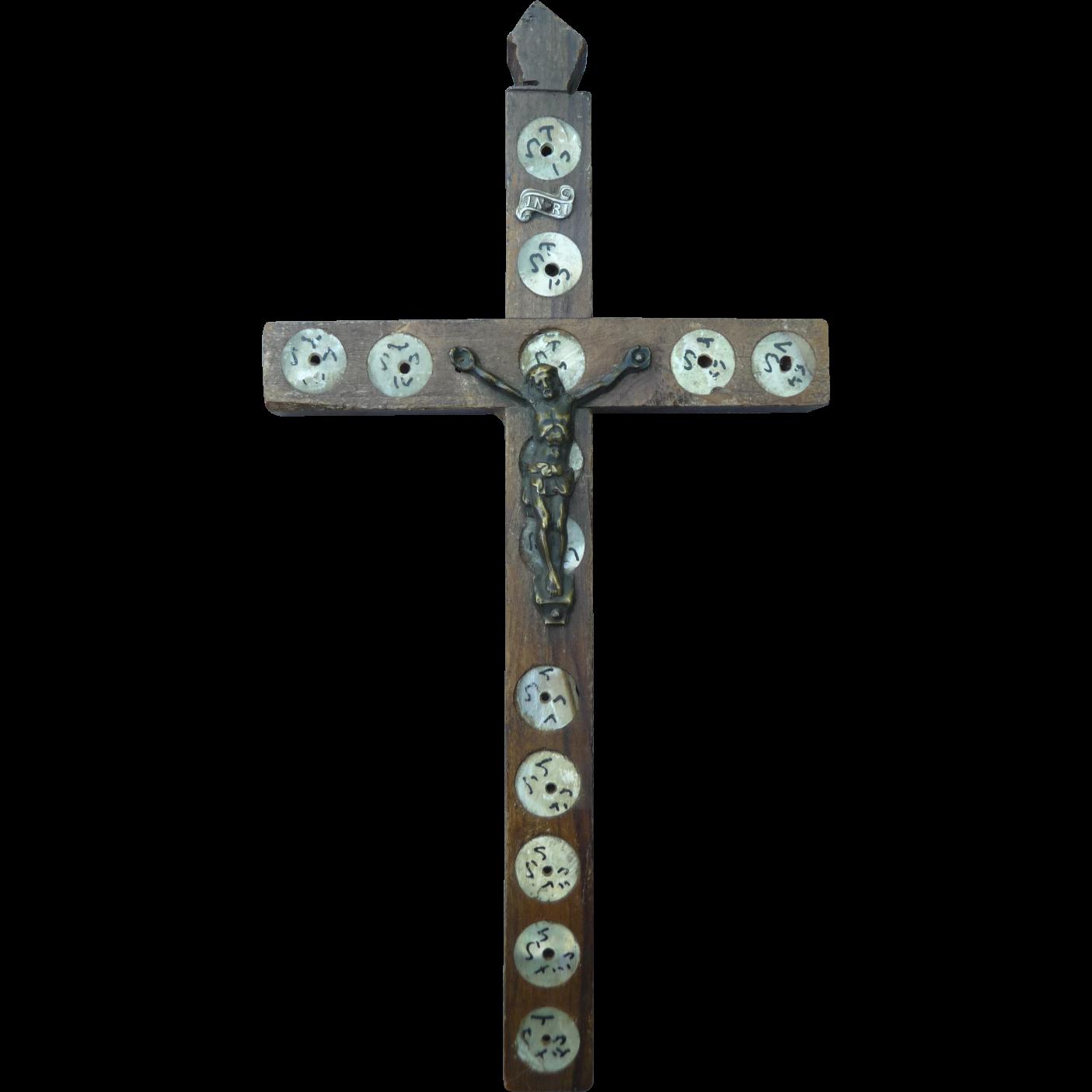 Vintage Olive Wood Cross