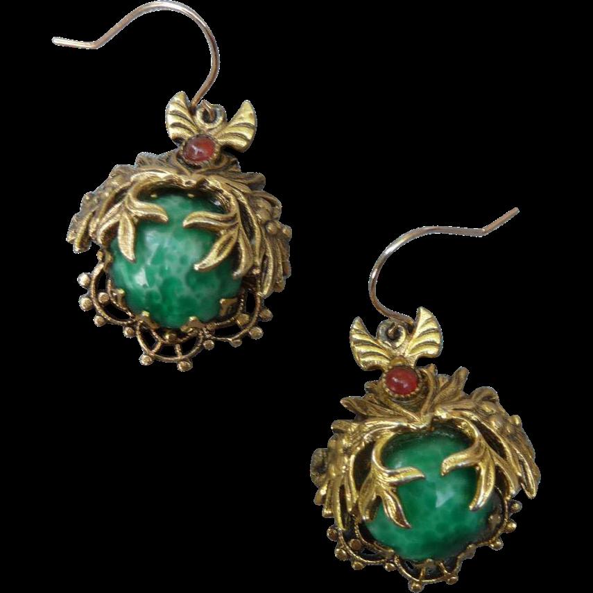 Lovely Vintage Pierced Earrings