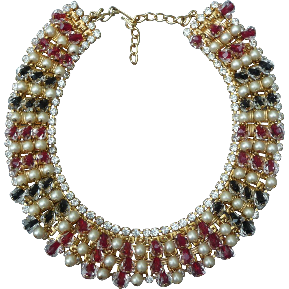 Spectacular Hobe Vintage Beaded Necklace