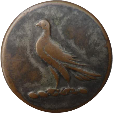1800's Brass Sporting Button