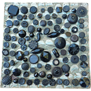 Lot of late 1800's Black Glass Buttons