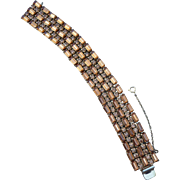 Exquisite Sherman Art Deco Style Bracelet