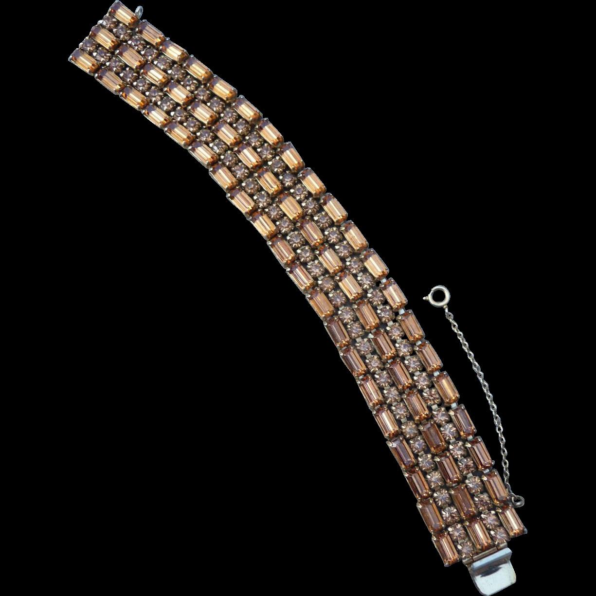Exquisite Sherman Art Deco Style Bracelet