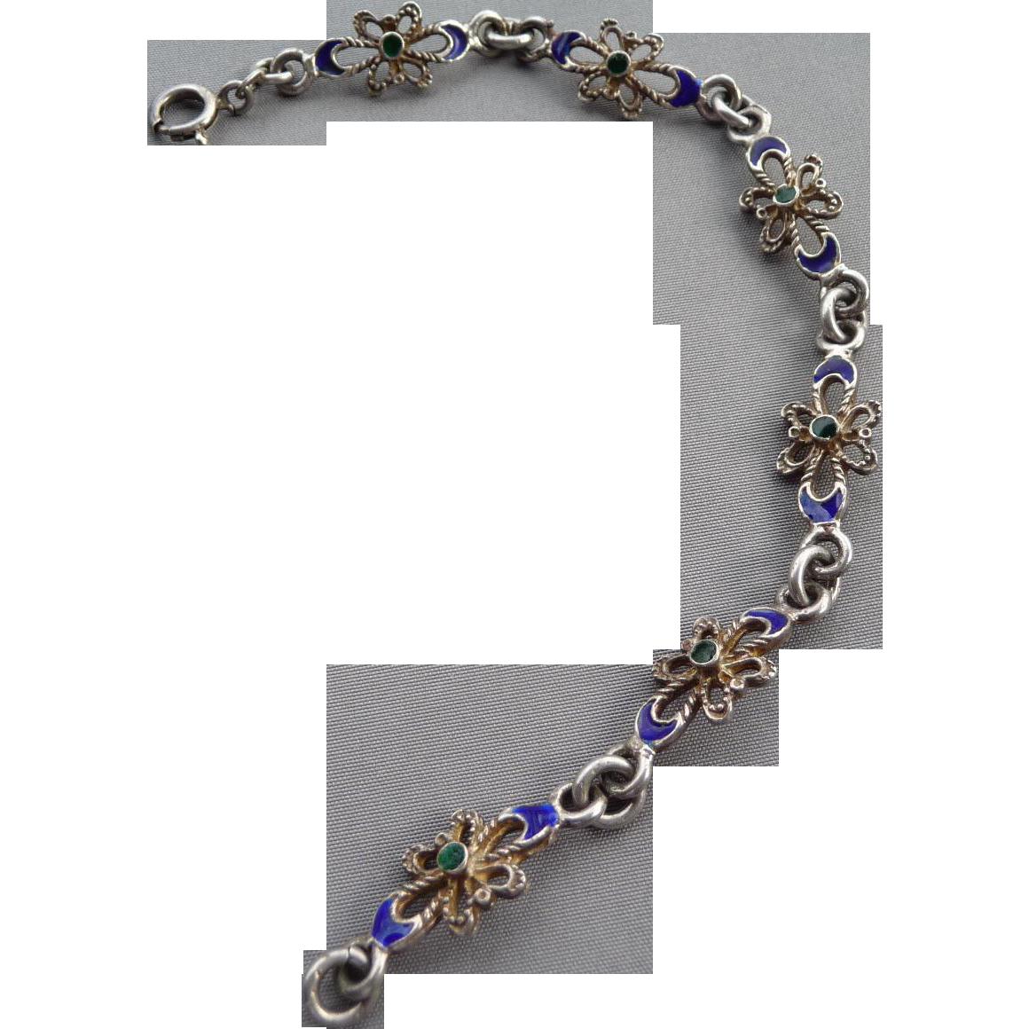 Vintage Silver Enamel 114