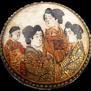 Vintage Satsuma Button