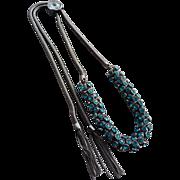 Vintage Slider Crystal Necklace