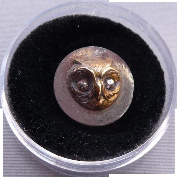 Vintage Owl Head Button