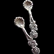 Delicate Vintage Silver Salt Spoons